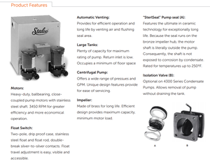4300 condensate return pump product features